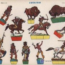 Coleccionismo Recortables: RECORTABLE EVA (22,5X30) INDIOS. Lote 18780875