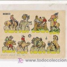 Coleccionismo Recortables: RECORTABLE RODEO, AÑO 1960 MEDIDA 17 X 12 APROXIMADAMENTE. Lote 11075113