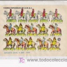 Coleccionismo Recortables: RECORTABLE TROPAS ESPECIALES DE LA R.A.U, AÑO 1960 MEDIDAS APROXIMADAMENTE 17 X 12. Lote 11075137