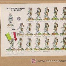 Coleccionismo Recortables: RECORTABLE INFANTERIA ITALIANA DE MONTAÑA AÑO 1960 MEDIDAS APROXIMADAS 24 X 17. Lote 25866748