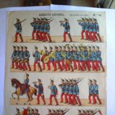Coleccionismo Recortables: RECORTABLE EJERCITO ESPAÑOL INFANTERIA DE LINEA N.50 IMPRENTA ELZEVIRIANA. Lote 19874247