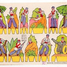 Sammeln von Bastelbögen - RECORTABLE DE SOLDADOS EDITORIAL ROMA. RECORTES AZUCENA Nº 15 - 14011101