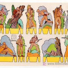Coleccionismo Recortables: RECORTABLE DE SOLDADOS EDITORIAL ROMA. RECORTES AZUCENA Nº 12. Lote 14011256