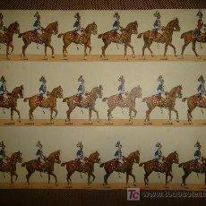 Coleccionismo Recortables: RECORTABLE DE LA CABALLERIA. Lote 14091422