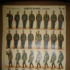 Coleccionismo Recortables: RECORTABLE DEL EJERCITO ESPAÑOL. CARABINEROS Nº 48. ESTAMPERIA ECONOMICA PALUZIE. Lote 14091443