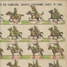 Coleccionismo Recortables: RECORTABLE. SOLDADOS.NUEVO UNIFORME. CAZADORES DE CAMPAÑA. NUMERO 253. 1927. PALUZIE. RARO. Lote 14369795