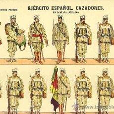 Coleccionismo Recortables: RECORTABLE DE SOLDADOS: EJERCITO ESPAÑOL: CAZADORES (PALUZIE, NUM. 40) (VER FOTO ADICIONAL). Lote 20470513