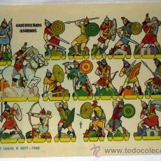 Coleccionismo Recortables: RECORTABLE GUERREROS ASIRIOS EDITORIAL BRUGUERA 1960 24 CM X 17 CM. Lote 14832305