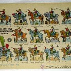 Coleccionismo Recortables: RECORTABLE LANCEROS DEL EJÉRCITO MEXICANO 1865 EDITORIAL BRUGUERA 1960 24 CM X 17 CM. Lote 14832750