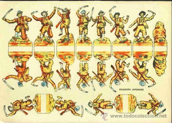 RECORTABLE DE SOLDADOS: SOLDADOS JAPONESES (Coleccionismo - Recortables - Soldados)