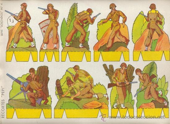 RECORTABLES PEPI EDITORIAL ROMA SERIE SOLDADOS Nº 4 (Coleccionismo - Recortables - Soldados)