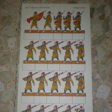Coleccionismo Recortables: RECORTABLE DE INFANTERIA PLIEGO 1 MILITAR SOLDADOS. Lote 38131744