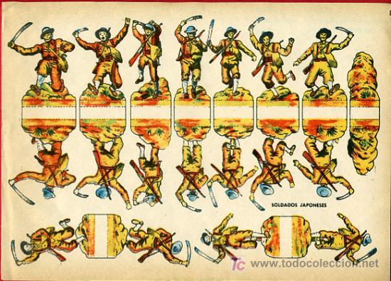 RECORTABLE SOLDADOS JAPONESES , R66 (Coleccionismo - Recortables - Soldados)