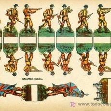 Coleccionismo Recortables: RECORTABLE SOLDADOS INFANTERIA INGLESA , R67. Lote 23065262