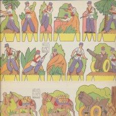 Coleccionismo Recortables: RECORTABLES AZUCENA.LOTE DE 15 LÁMINAS (17,5X25) SERIE SOLDADOS 1 AL 15. EDIT. ROMA.. Lote 19771877