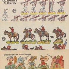 Coleccionismo Recortables: RECORTABLES BRUGUERA (17X24,5) LOTE DE 3: CAZADORES ALPINOS,CABALLERÍA CANADIENSE Y GALOS CON-. Lote 19791523
