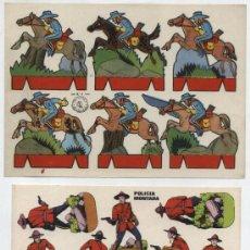 Coleccionismo Recortables: RECORTABLE (12X17)RECORTES ROSITA.OESTE Nº 4. ED. ROMA Y POLICÍA MONTADA.. Lote 19837927