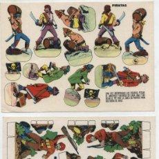 Coleccionismo Recortables: RECORTABLE (12X17) LOTE DE 2: PIRATAS Y GUERRILLEROS INDIA 1935. EDIT. ESTAMPAS DE ESPAÑA.. Lote 19838161