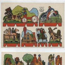 Coleccionismo Recortables: RECORTES ROSITA (12X17,5) LOTE DE 2: OESTE Nº 5 Y 8. EDIT. ROMA.. Lote 19838773