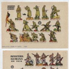 Coleccionismo Recortables: RECORTABLES BRUGUERA (12X17) LOTE DE 2: INFANTERÍA ALEMANA Y GRANADEROS BLINDADOS. AÑO 1960.. Lote 20128107
