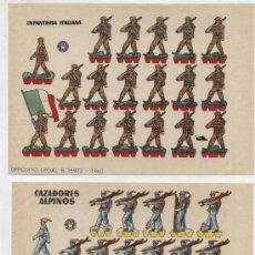 Coleccionismo Recortables: RECORTABLES BRUGUERA (12X17) LOTE DE 2: CAZADORES ALPINOS E INFANTERÍA ALEMANA. AÑO 1960.. Lote 20128129
