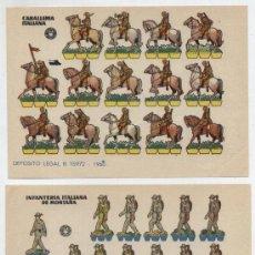 Coleccionismo Recortables: RECORTABLES BRUGUERA (12X17) LOTE DE 2: CABALLERÍA ITALIANA DE MONTAÑA.INFANTERÍA ITALIA. AÑO 1961.. Lote 20128161
