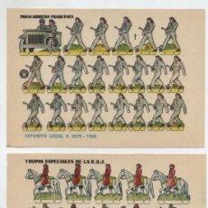Coleccionismo Recortables: RECORTABLES BRUGUERA (12X17) LOTE DE 2: PARACAIDISTAS FRANCESES Y TROPAS ESPECIALES. AÑO 1960.. Lote 20128294