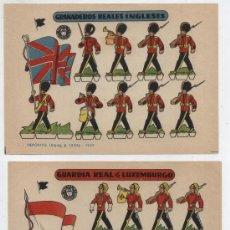 Coleccionismo Recortables: RECORTABLES BRUGUERA (12X17) LOTE DE 2: GRANADEROS REALES INGLESES Y GUARDIA REAL. AÑO 1959.. Lote 20128812