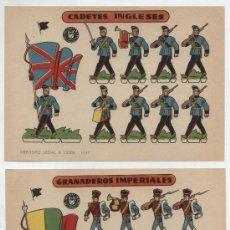 Coleccionismo Recortables: RECORTABLES BRUGUERA (12X17) LOTE DE 2: GRANADEROS IMPERIALES Y CADETES INGLESES. AÑO 1959.. Lote 20129087