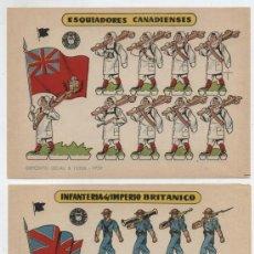 Coleccionismo Recortables: RECORTABLES BRUGUERA (12X17) LOTE DE 2: ESQUIADORES CANADIENSES.INFANTERÍA DEL IMPERI. AÑO 1959.. Lote 20129174