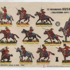 Coleccionismo Recortables: RECORTABLES BRUGUERA (17X24,5) 15 REGIMIENTO HÚSARES. INGLATERRA 1841. AÑO 1961.. Lote 20148775