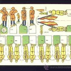 Coleccionismo Recortables: RECORTABLE DE SOLDADOS: JURA A LA BANDERA (FORMATO PEQUEÑO 18 X 12,5 CMS) (RECORTES ROSITA NUM.7). Lote 20640304