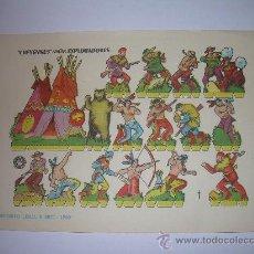 Coleccionismo Recortables: ANTIGUO RECORTABLE.......CHEYENES CONTRA EXPLORADORES......BRUGUERA...1.960. Lote 22147391