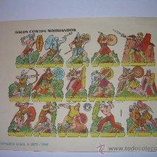 Coleccionismo Recortables: ANTIGUO RECORTABLE..........GALOS CONTRA NORMANDOS......BRUGUERA....1.960. Lote 22147441