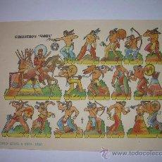 Coleccionismo Recortables: ANTIGUO RECORTABLE...........GUERREROS SIOUX......BRUGUERA......1.960. Lote 22147412