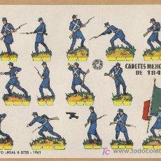 Coleccionismo Recortables: RECORTABLES CADETES MEXICANO AÑO 1847 MEDIDA 24 X 17 AÑO 1961. Lote 25866678