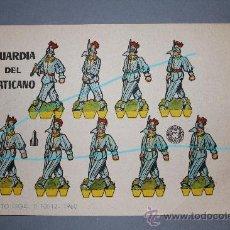 Coleccionismo Recortables: RECORTABLE GUARDIA DEL VATICANO. -BRUGUERA 1960. CATALOGADO:SERIE COHETE.. Lote 26429843