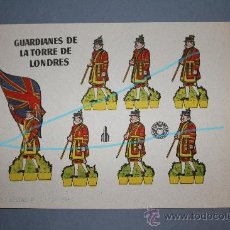 Coleccionismo Recortables: RECORTABLE GUARDIANES DE LA TORRE DE LONDRES.-BRUGUERA 1960-CATALOGADO: SERIE COHETE.. Lote 26332545