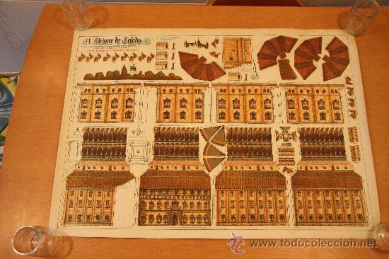 RECORTABLE ALCAZAR DE TOLEDO 1.940 CONSTRUCCIONES ANEL (Coleccionismo - Recortables - Soldados)