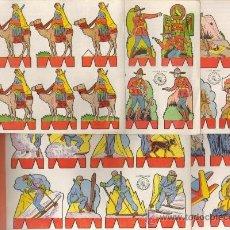 Coleccionismo Recortables: INTERESANTE LOTE DE 5 RECORTABLES ROSITA EDITORIAL ROMA BARCELONA SERIE SOLDADOS TIPO LILIPUT . Lote 133806225