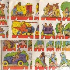 Coleccionismo Recortables: INTERESANTE LOTE DE 5 RECORTABLES ROSITA EDITORIAL ROMA BARCELONA SERIE SOLDADOS TIPO LILIPUT . Lote 133806273