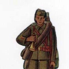 Coleccionismo Recortables: SOLDADO DE CARTÓN TROQUELADO DEL EJÉRCITO NACIONAL, EDITADO POR ALMACENES ALEMANES. CORNETA. Lote 26427298