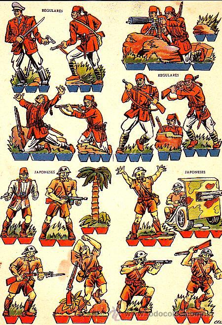 RECORTABLE SOLDADOS JAPONESES REGULARES (Coleccionismo - Recortables - Soldados)