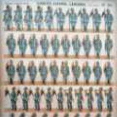 Coleccionismo Recortables: EJERCITO ESPAÑOL. LANCEROS. PIE A TIERRA.. Lote 25405653