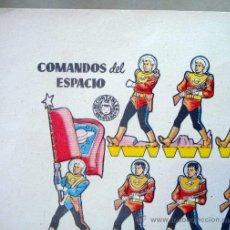 Coleccionismo Recortables: RECORTABLES BRUGUERA, 1960, SOLDADOS, COMANDOS DEL ESPACIO, 17 X 24 CM. Lote 26330225