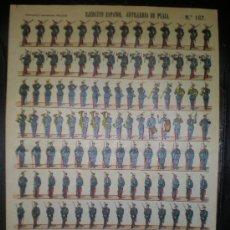 Coleccionismo Recortables: RECORTABLE PALUZIE Nº 167 EJERCITO ESPAÑOL ARTILLERIA DE PLAZA. Lote 27453478