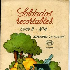 Coleccionismo Recortables: SOLDADOS RECORTABLES LA TIJERA SERIE B Nº 4. Lote 27620703