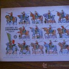 Coleccionismo Recortables: RECORTABLE BRUGUERA: LANCEROS DEL EJÉRCITO MEXICANO. Lote 34848150