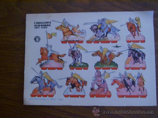 RECORTABLE BRUGUERA: CABALLERÍA NORMANDA (Coleccionismo - Recortables - Soldados)