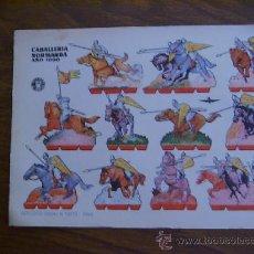 Coleccionismo Recortables: RECORTABLE BRUGUERA: CABALLERÍA NORMANDA. Lote 34848124